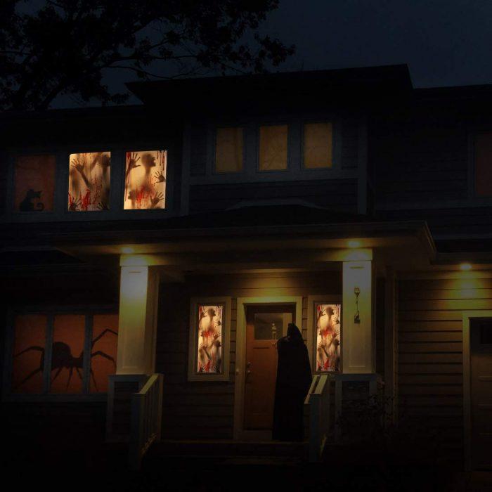 Unique Bloody Haunted House Halloween Door Decor