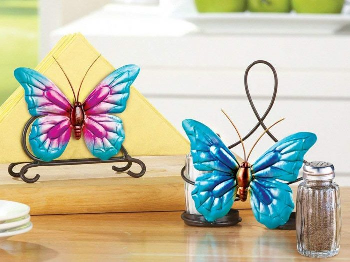Whimsical Blue Butterfly Serveware Accessory Set