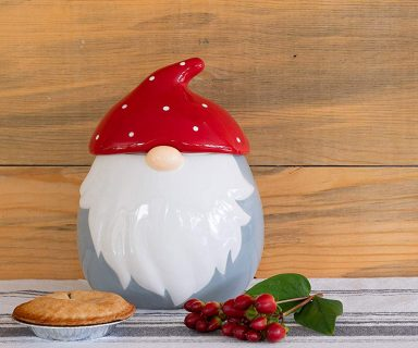 Christmas Gnome Cookie Jar