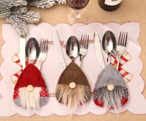 Adorable Christmas Silverware Holders