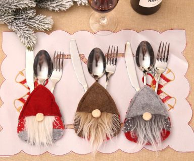 Christmas Silverware Holders Pocket Set