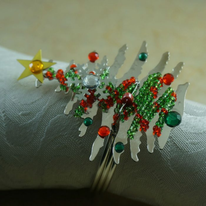 Christmas Tree Style Napkin Ring