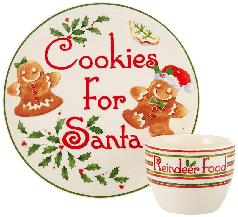 Christmas for Santa Cookie Plate and Bowl Set