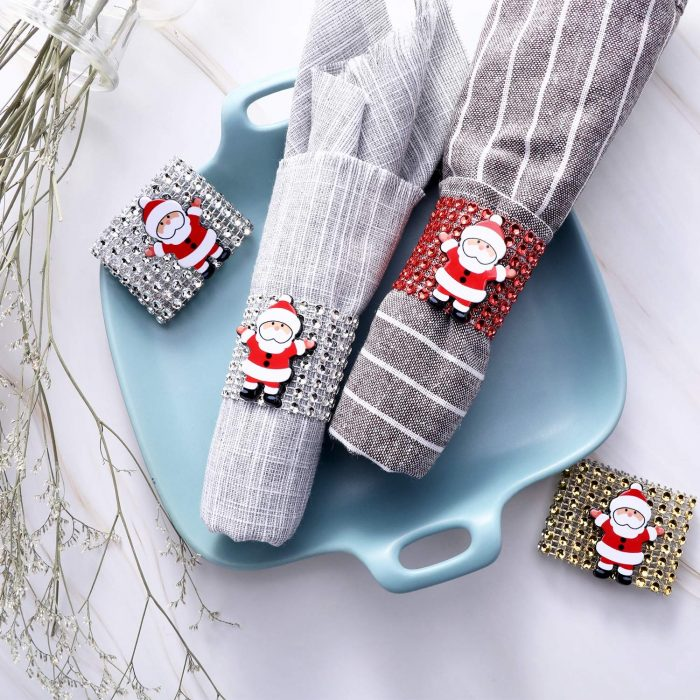Decorative Santa Claus Napkin Rings