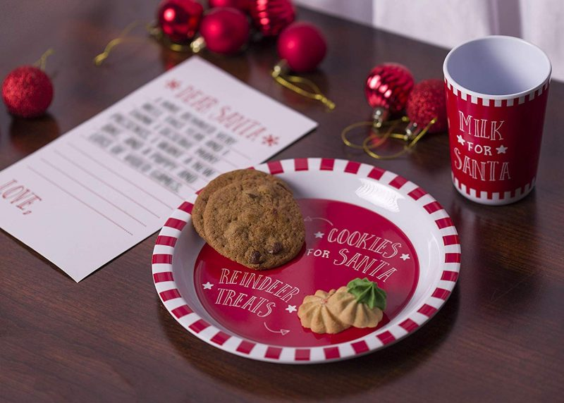 Santa Cookie and Milk Set