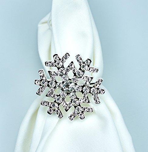 Sparkling Snowflake Napkin Rings