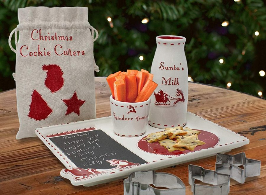 Santa's Message Christmas Plate Set with Cookie Cutters